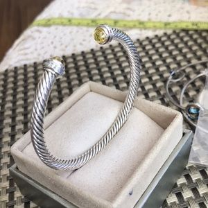 Authentic David Yurman Ring with Citrin Stone